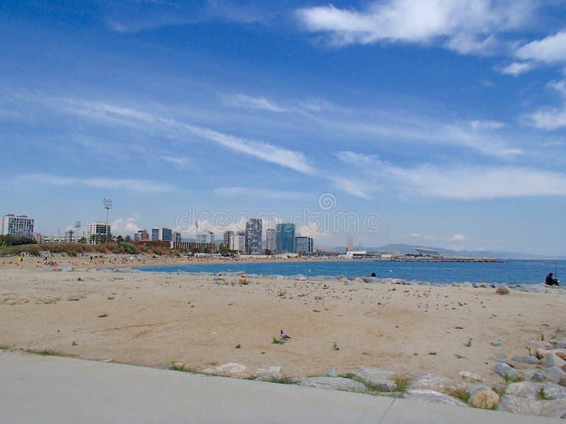 Пляж mar Bella стоковое фото rf