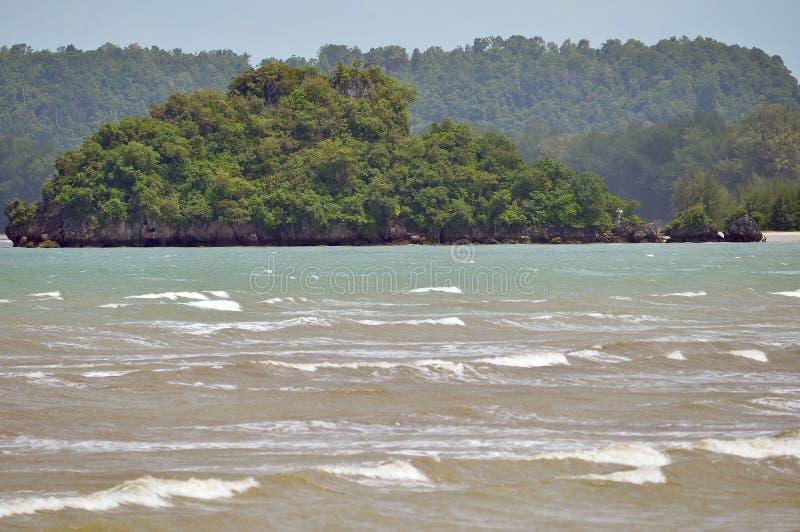 Пляж nang Ao в Krabi Таиланде стоковые изображения