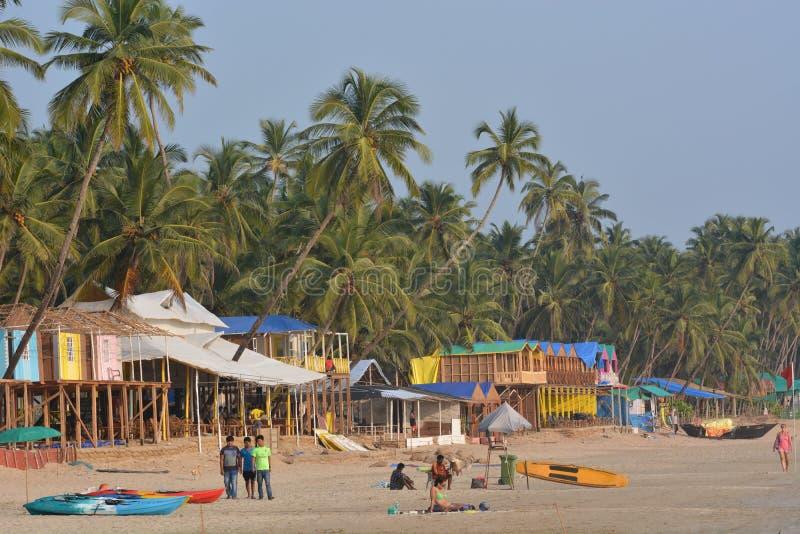 Пляж Palolem в Goa стоковые изображения