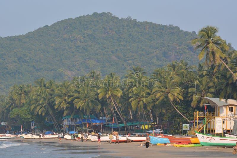 Пляж Palolem в Goa стоковое фото