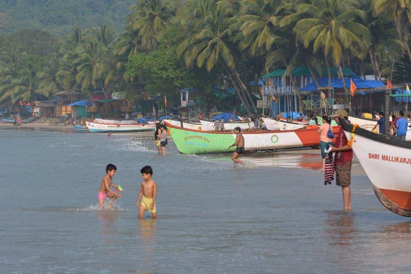Пляж Palolem в Goa стоковая фотография rf