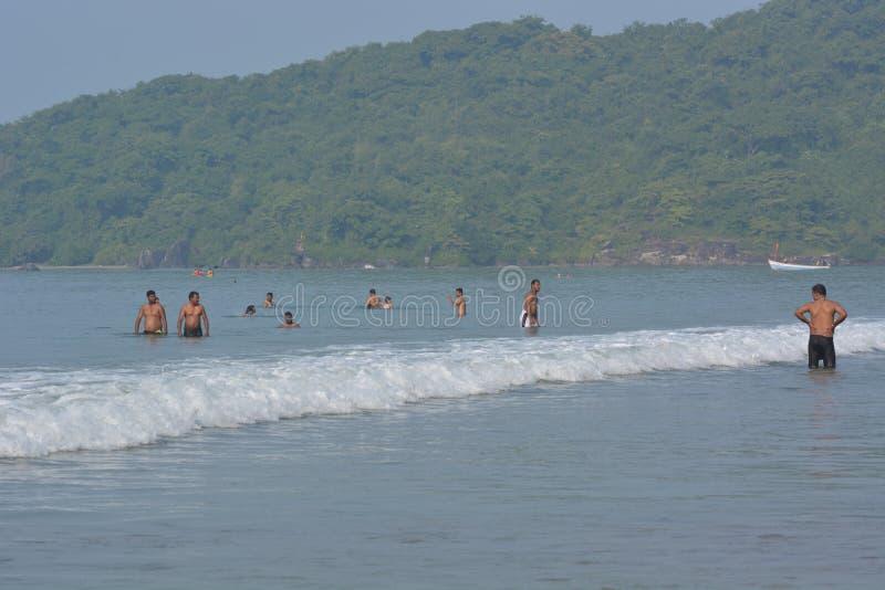 Пляж Palolem в Goa стоковые фотографии rf
