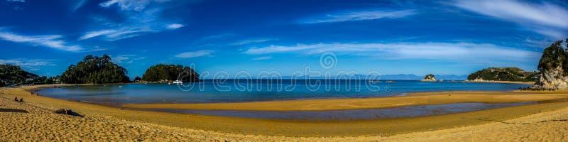 Пляж Panarama Kaiteriteri стоковые фотографии rf