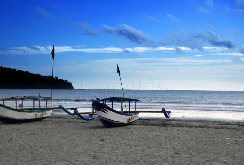 Пляж Pangandaran стоковая фотография