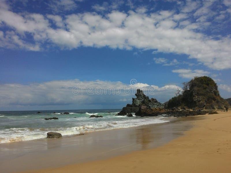 Пляж Parang Kursi стоковое изображение