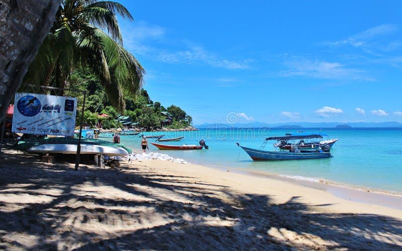 Пляж perhentian острова стоковые изображения rf
