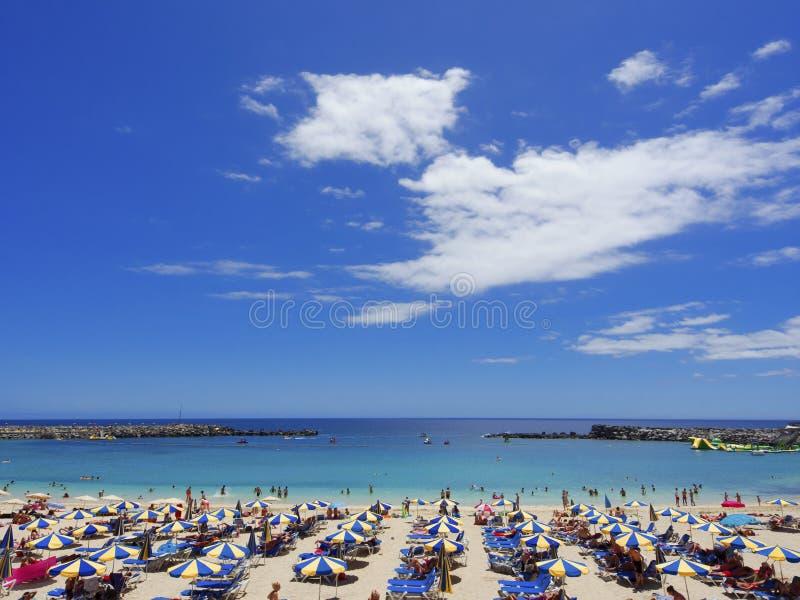 Пляж Playa de Amadores gran canaria Испания стоковая фотография rf