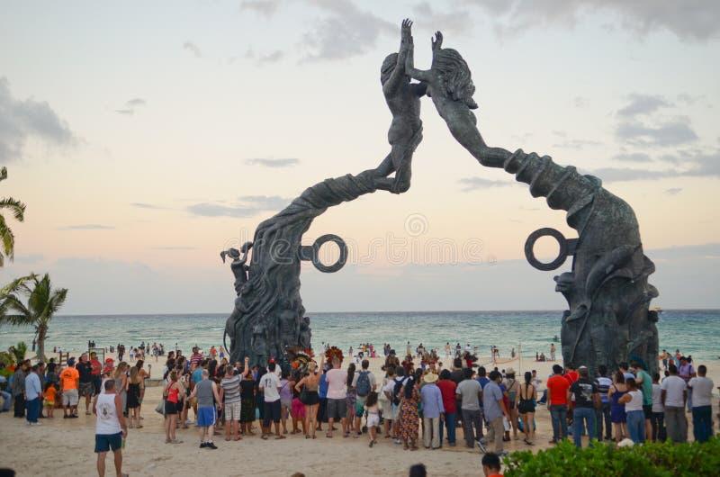 Пляж Playa del Carmen стоковая фотография