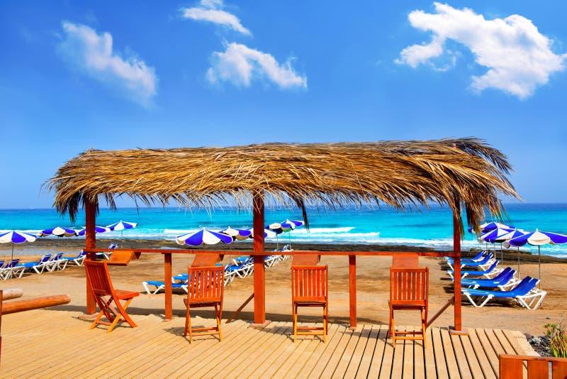 Пляж Playa Las Америки Adeje в Тенерифе стоковое фото rf