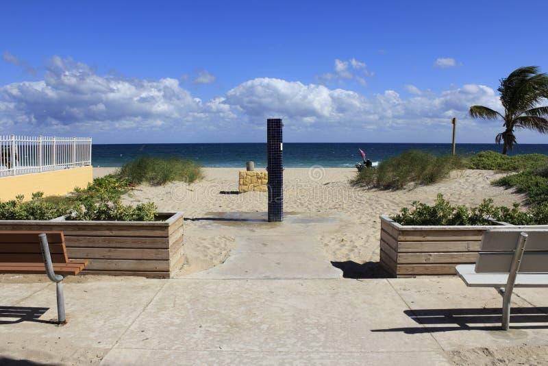 Пляж Pompano, взморье Флориды стоковое фото