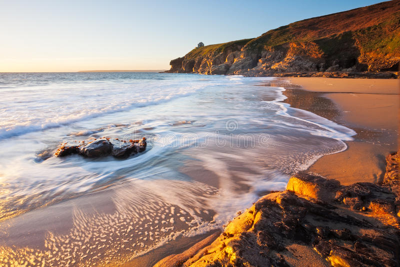 Пляж Porthcew Корнуолл Rinsey стоковая фотография rf