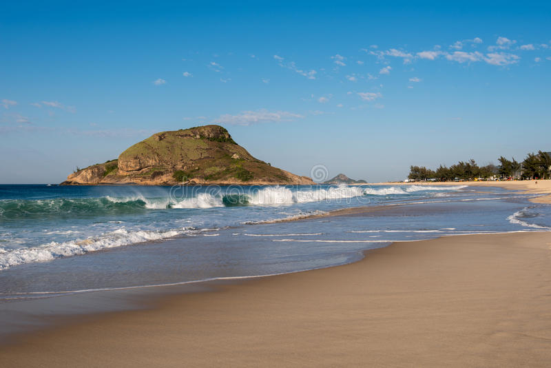 Пляж Recreio в Рио-де-Жанейро стоковое изображение