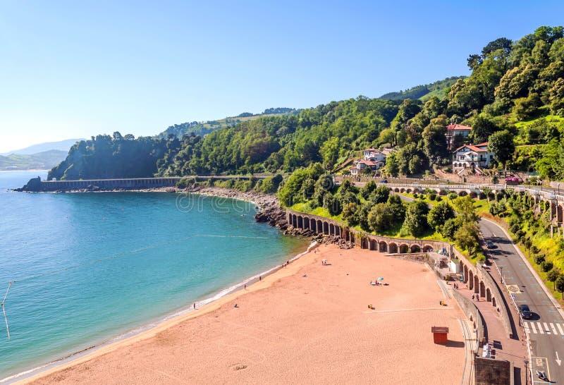 Пляж San Sebastian стоковое фото rf