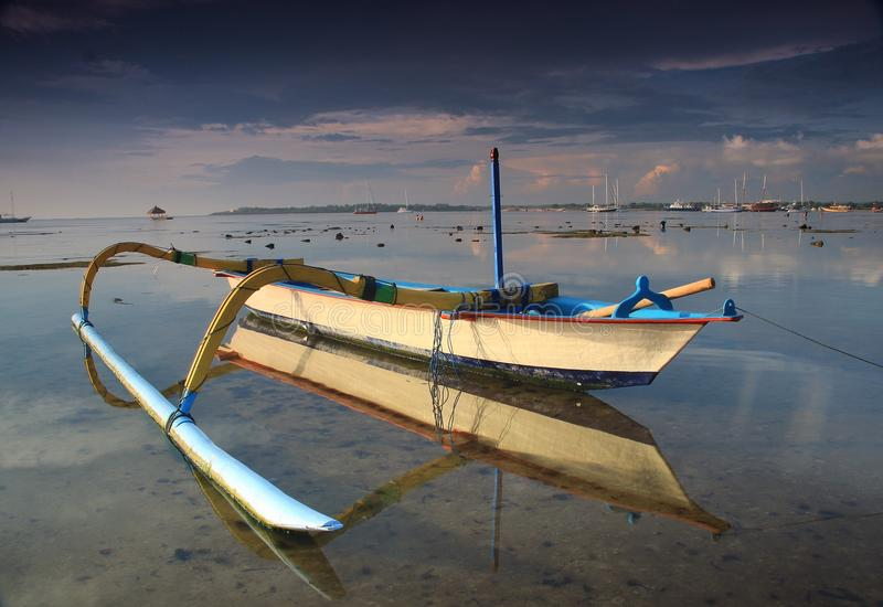 Пляж Sanur стоковое изображение rf