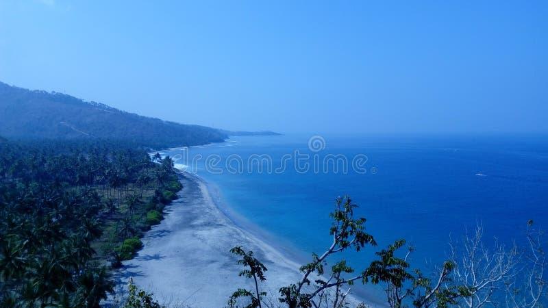 Пляж Senggigi стоковые изображения rf