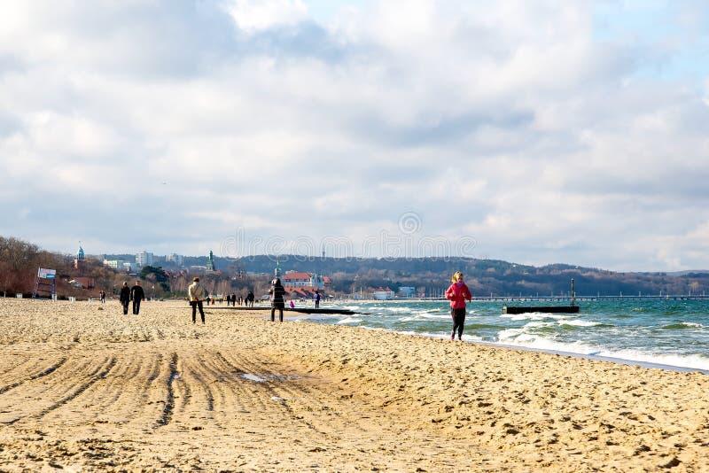 Пляж Sopot стоковые фото