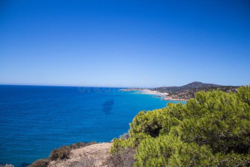 Пляж Spiaggia del Morto beatifull Сардинии стоковые изображения