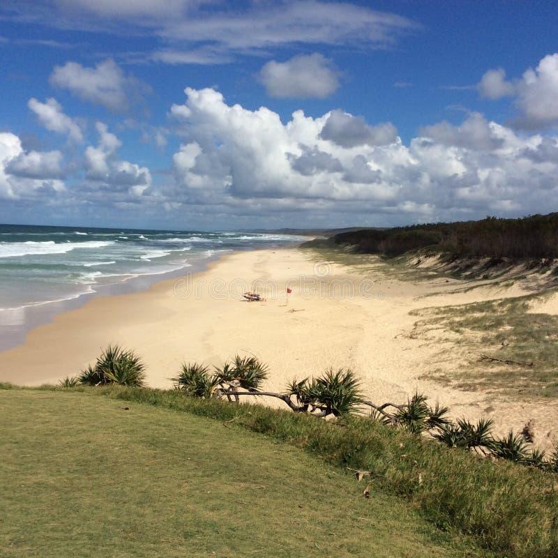 Пляж Stradbroke стоковое изображение rf