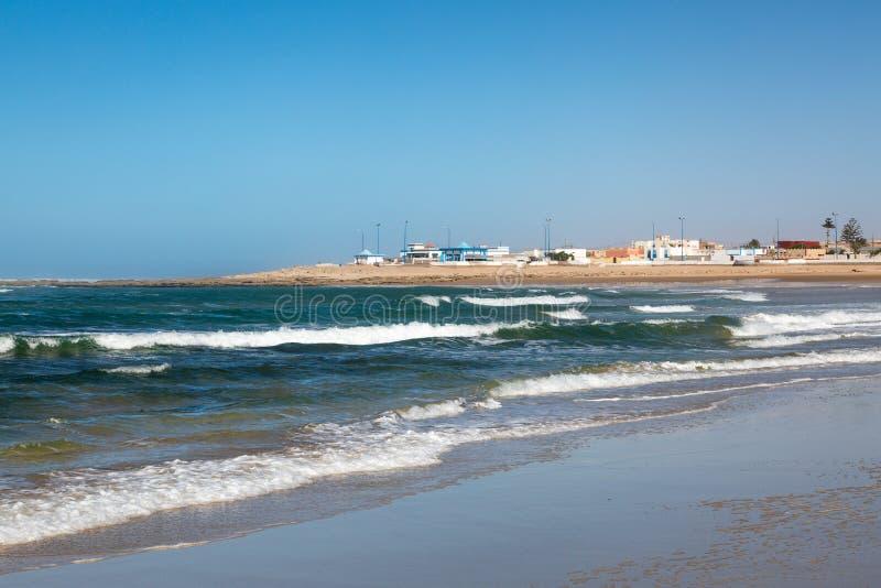 Пляж Tantan в El Ouatia, Марокко стоковые фотографии rf