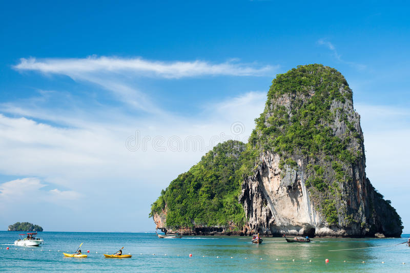 Пляж Tham Phra Nang, Krabi, Таиланд стоковое фото