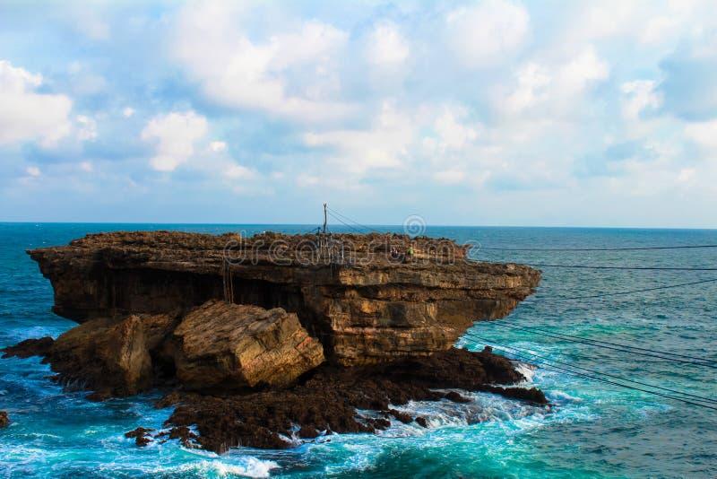 Пляж Timang стоковые изображения rf
