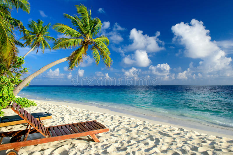 пляж unspoilt стоковое изображение rf