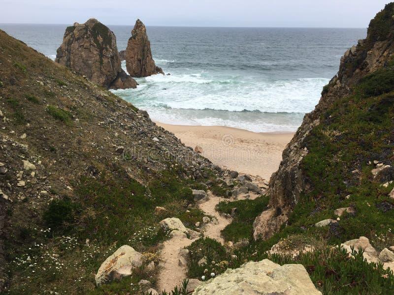 Пляж Ursa - Португалия стоковые изображения rf