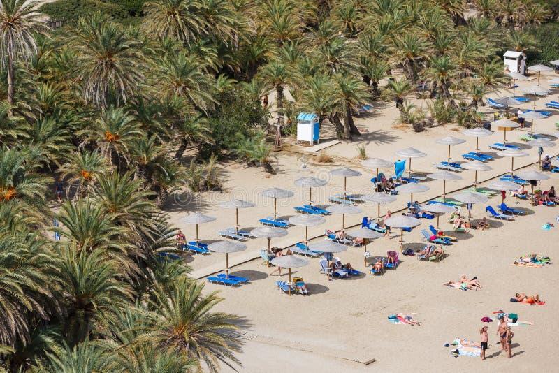 Пляж Vai, Крит стоковое фото rf