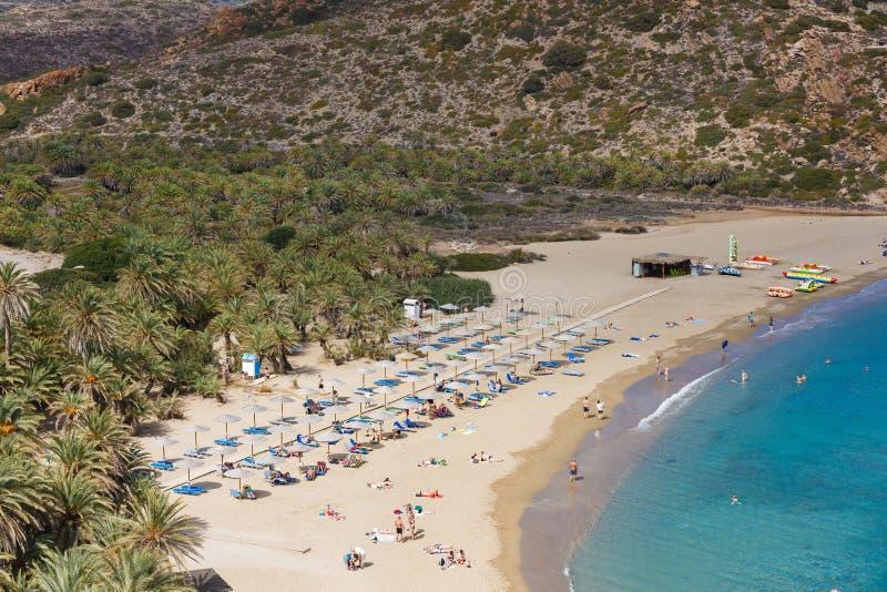 Пляж Vai, Крит стоковая фотография