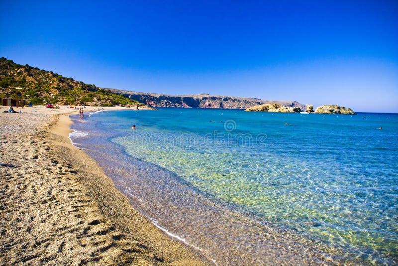 Пляж Vai стоковое изображение