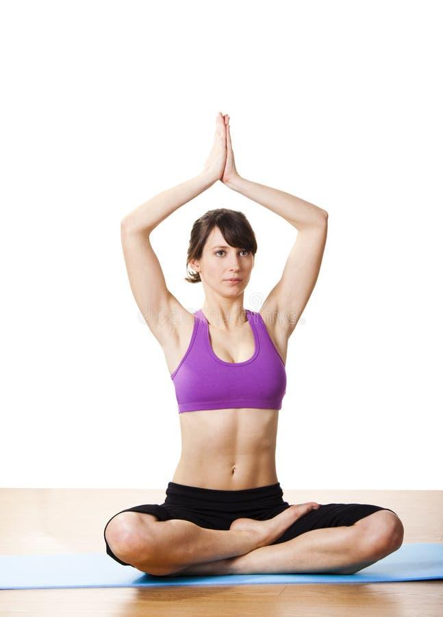 работает йогу стоковое изображение