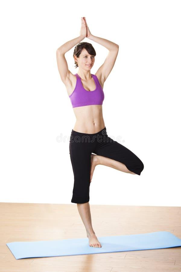 работает йогу стоковые фото