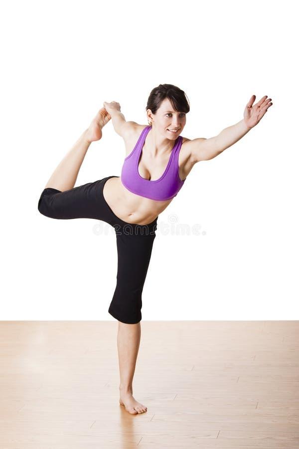 работает йогу стоковое фото