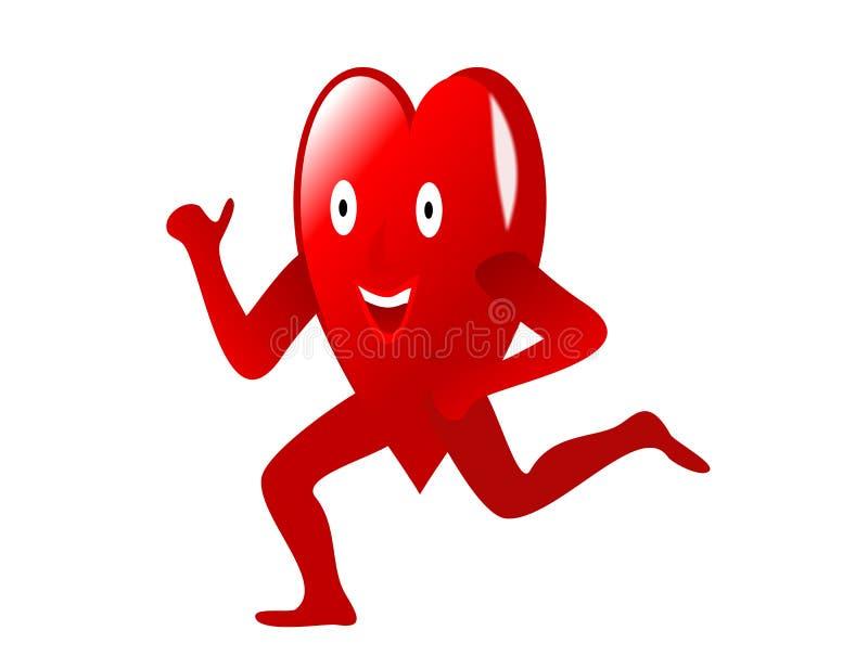 работать здоровое сердце иллюстрация штока