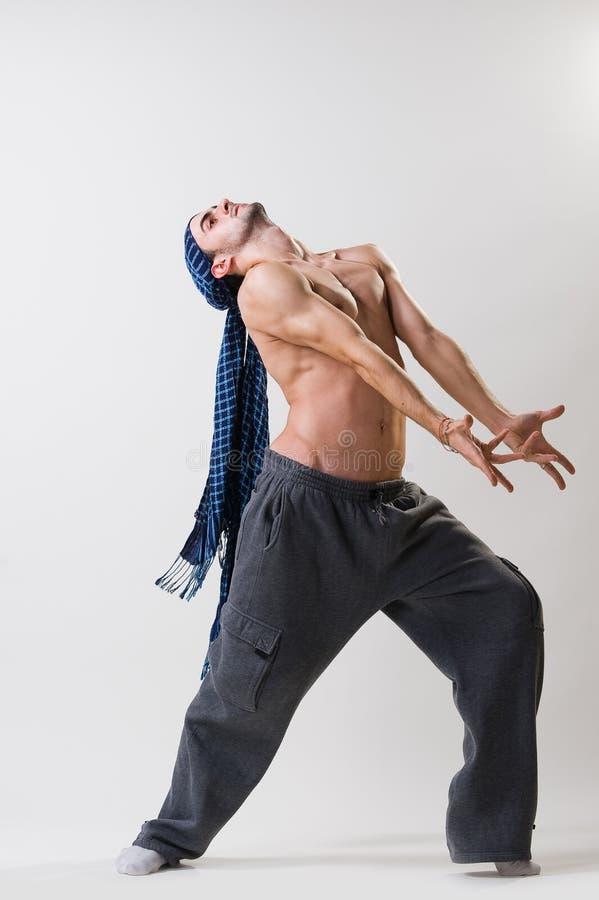 работать танцора выразительный стоковое изображение