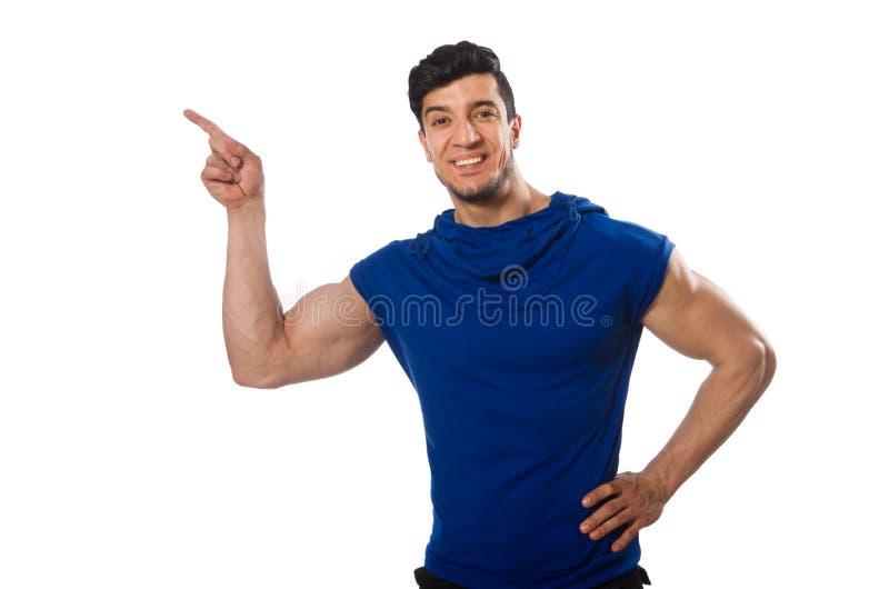 Работать человека изолированный на белизне стоковые фотографии rf