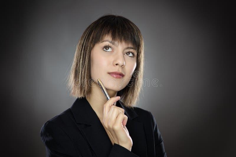 Работая бизнес-леди стоковые фото
