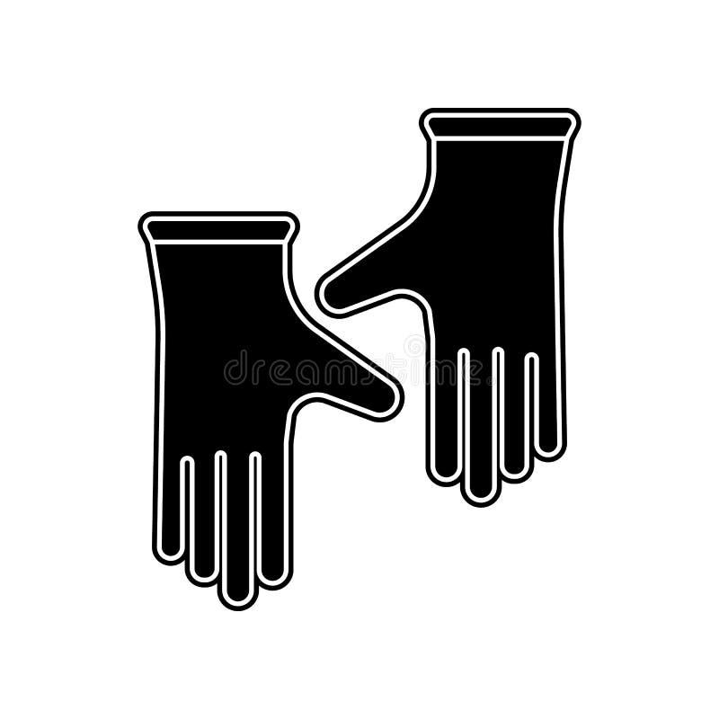 Работая значок перчаток Элемент домашнего инструмента ремонта для мобильных концепции и значка приложений сети Глиф, плоский знач бесплатная иллюстрация