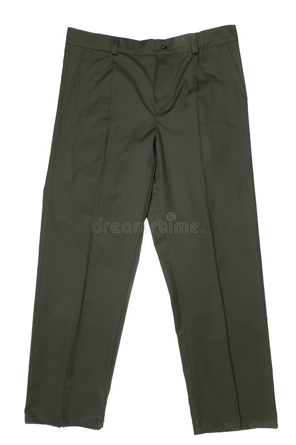 Работая цвет черноты брюк. стоковая фотография