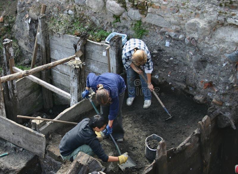 работа археологов стоковое изображение