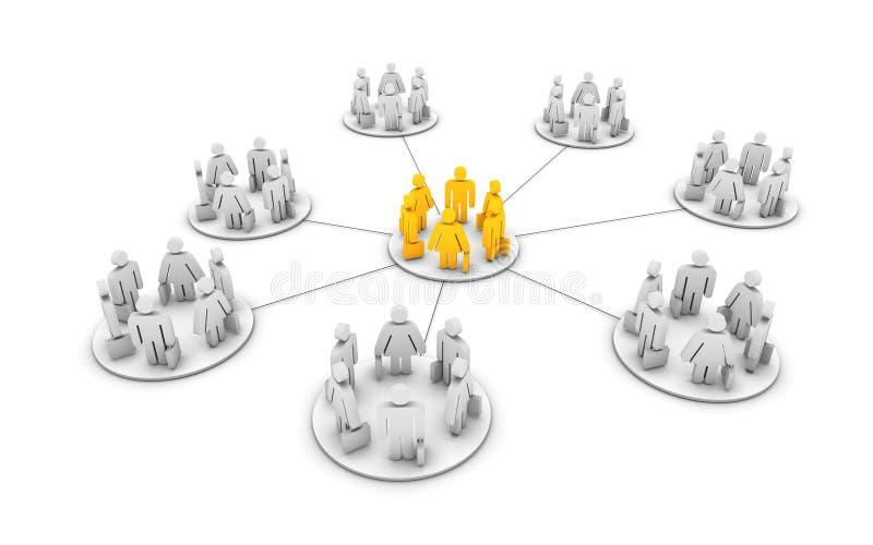 работа бизнес-групп иллюстрация вектора