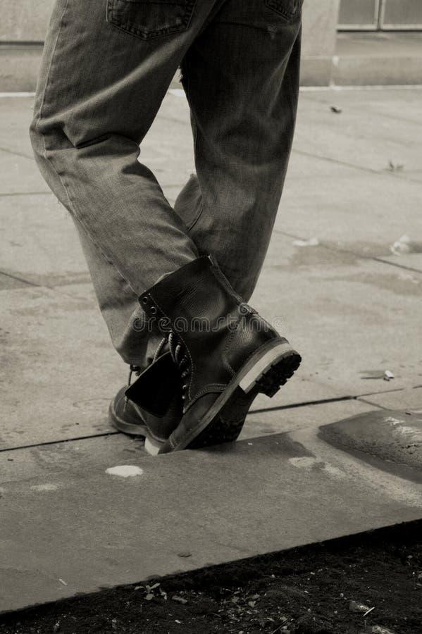 работа ботинок стоковая фотография