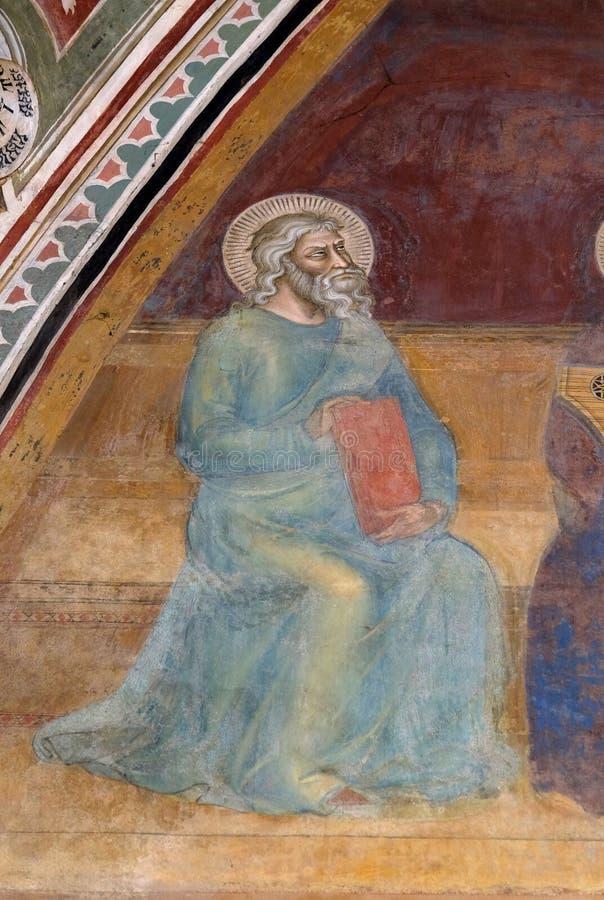 Работа, деталь триумфа фрески St. Thomas Aquinas, церков повести Santa Maria во Флоренс стоковое изображение