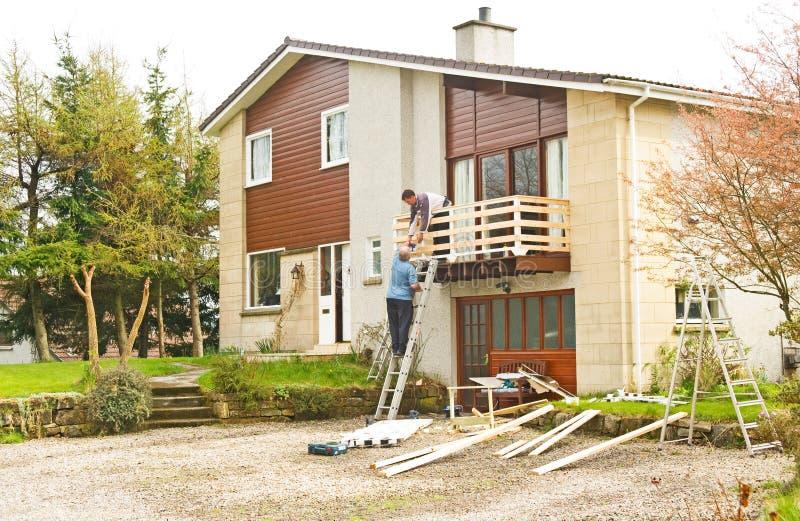 работа домашних улучшений строителей стоковые фотографии rf