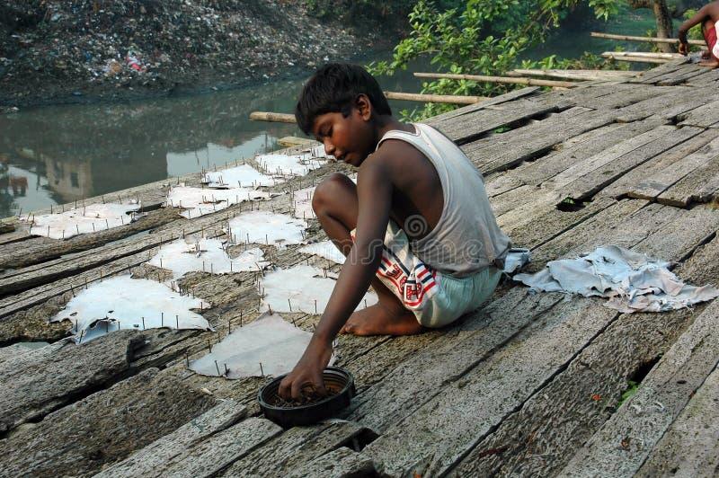 работа Индии ребенка стоковое фото rf