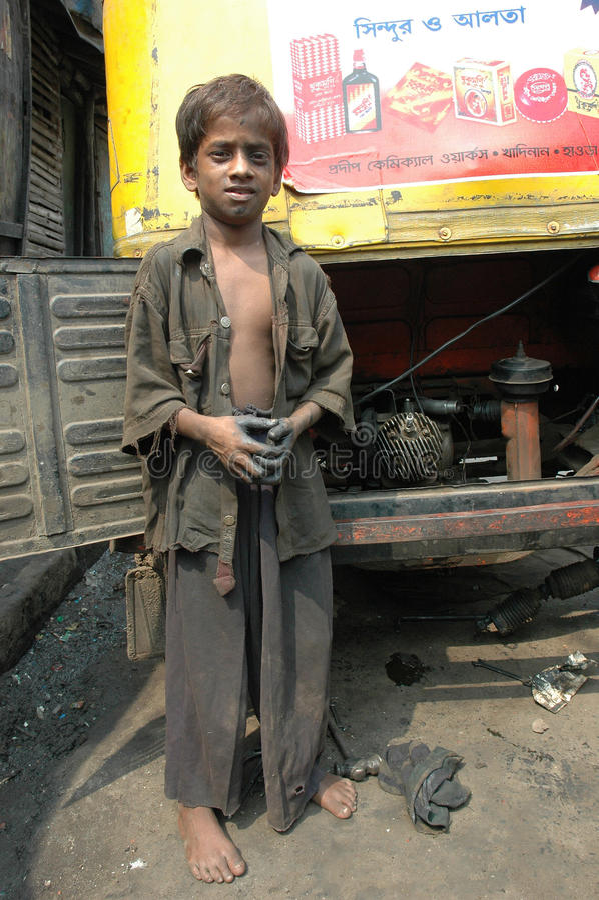 работа Индии ребенка стоковое фото