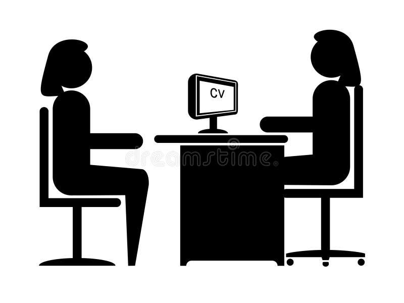 работа интервью иллюстрация вектора