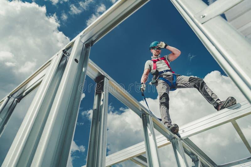 Работа используя ремни безопасности стоковая фотография rf