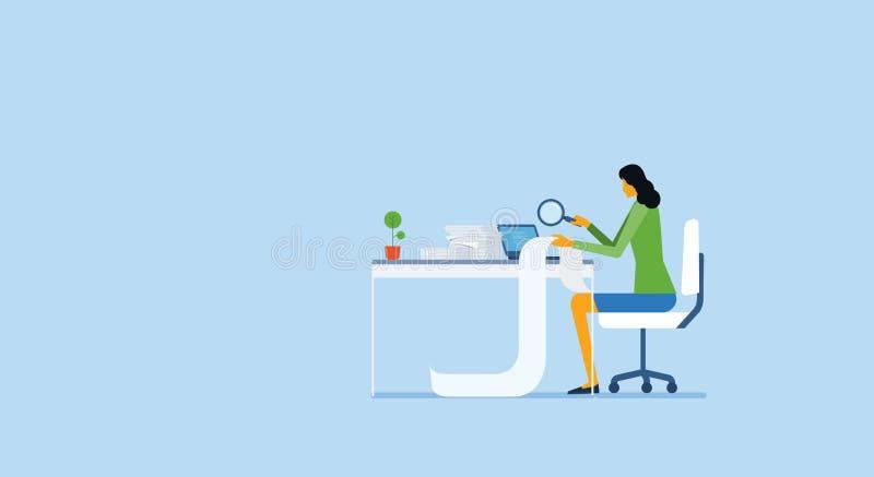 Работа и проект бизнесменов анализируют процесс исследования бесплатная иллюстрация