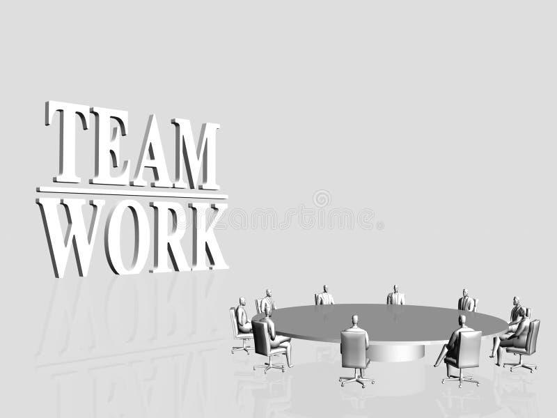 работа команды конференции иллюстрация вектора